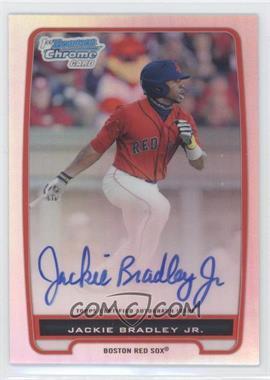 2012 Bowman Chrome Prospects Certified Autographs Refractor #BCP66 - Jackie Bradley Jr. /500