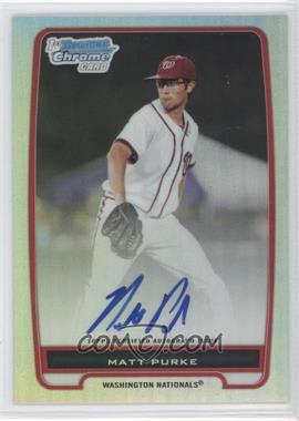 2012 Bowman Chrome Prospects Certified Autographs Refractor #BCP80 - Matt Purke /500