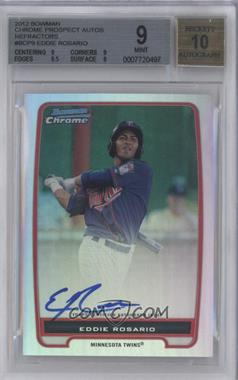 2012 Bowman Chrome Prospects Certified Autographs Refractor #BCP9 - Eddie Rosario /500 [BGS 9]