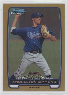 2012 Bowman Chrome Prospects Gold Refractor #BCP109 - Andrelton Simmons /50
