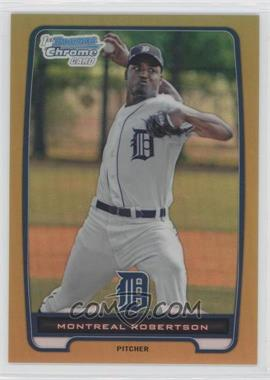 2012 Bowman Chrome Prospects Gold Refractor #BCP196 - Montreal Robertson /50