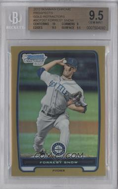 2012 Bowman Chrome Prospects Gold Refractor #BCP207 - Forrest Snow /50 [BGS 9.5]