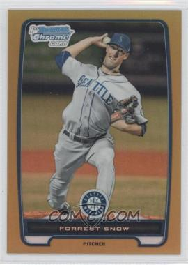2012 Bowman Chrome Prospects Gold Refractor #BCP207 - Forrest Snow /50
