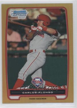 2012 Bowman Chrome Prospects Gold Refractor #BCP210 - Carlos Alonso /50