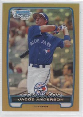 2012 Bowman Chrome Prospects Gold Refractor #BCP83 - Jacob Anderson /50