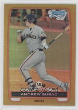 2012 Bowman Chrome Prospects Gold Refractor #BCP97 - Andrew Susac /50