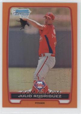 2012 Bowman Chrome Prospects Orange Refractor #BCP101 - Julio Rodriguez /25