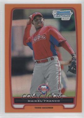 2012 Bowman Chrome Prospects Orange Refractor #BCP112 - Maikel Franco /25