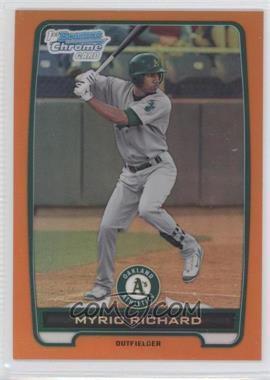 2012 Bowman Chrome Prospects Orange Refractor #BCP2 - Myrio Richard /25
