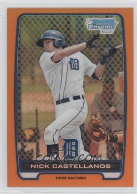 2012 Bowman Chrome Prospects Orange Refractor #BCP78 - Nick Castellanos /25