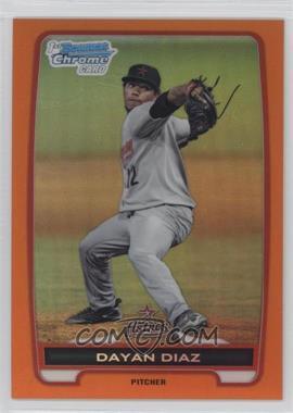 2012 Bowman Chrome Prospects Orange Refractor #BCP82 - Dayan Diaz /25