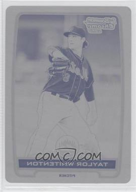 2012 Bowman Chrome Prospects Printing Plate Black #BCP81 - Taylor Whitenton /1