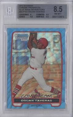 2012 Bowman Chrome Prospects Redemption Refractor Blue Wave #BCP102 - Oscar Taveras [BGS 8.5]