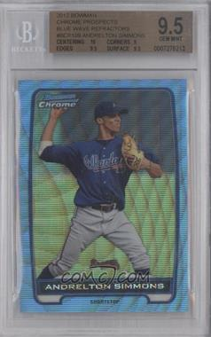 2012 Bowman Chrome Prospects Redemption Refractor Blue Wave #BCP109 - Andrelton Simmons [BGS 9.5]