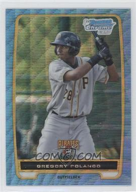 2012 Bowman Chrome Prospects Redemption Refractor Blue Wave #BCP182 - Gregory Polanco