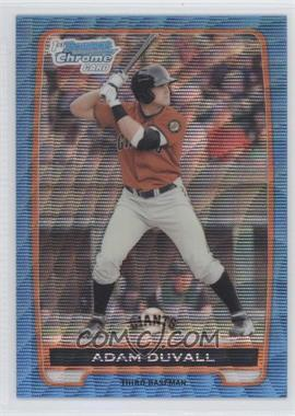 2012 Bowman Chrome Prospects Redemption Refractor Blue Wave #BCP44 - Adam Duvall