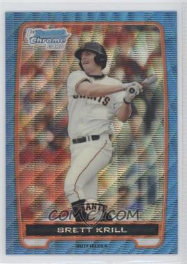 2012 Bowman Chrome Prospects Redemption Refractor Blue Wave #BCP51 - Brett Krill