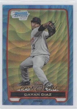 2012 Bowman Chrome Prospects Redemption Refractor Blue Wave #BCP82 - Dayan Diaz