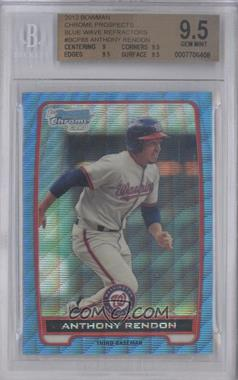 2012 Bowman Chrome Prospects Redemption Refractor Blue Wave #BCP88 - Anthony Rendon [BGS 9.5]