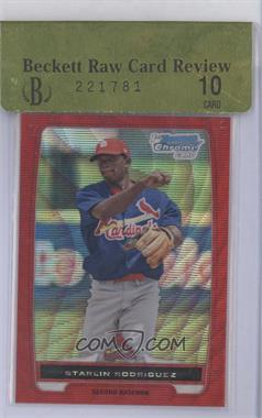2012 Bowman Chrome Prospects Redemption Refractor Red Wave #BCP135 - Starlin Rodriguez /25