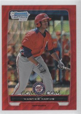 2012 Bowman Chrome Prospects Redemption Refractor Red Wave #BCP166 - Wander Ramos /25