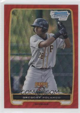 2012 Bowman Chrome Prospects Redemption Refractor Red Wave #BCP182 - Gregory Polanco /25