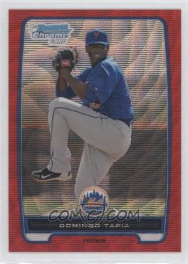 2012 Bowman Chrome Prospects Redemption Refractor Red Wave #BCP211 - Domingo Tapia /25