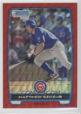 2012 Bowman Chrome Prospects Redemption Refractor Red Wave #BCP34 - Matt Szczur /25