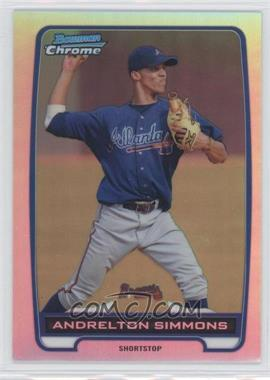 2012 Bowman Chrome Prospects Refractor #BCP109 - Andrelton Simmons /500