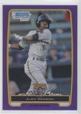 2012 Bowman Chrome Prospects Retail Purple Refractor #BCP143 - Alen Hanson /199