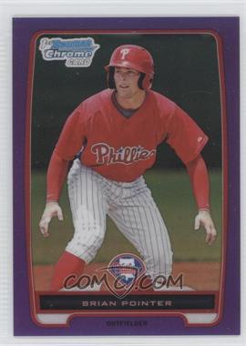 2012 Bowman Chrome Prospects Retail Purple Refractor #BCP169 - Brian Pointer /199