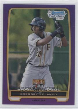 2012 Bowman Chrome Prospects Retail Purple Refractor #BCP182 - Gregory Polanco /199