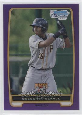 2012 Bowman Chrome Prospects Retail Purple Refractor #BCP182 - Gregory Polanco /199