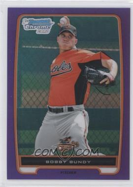 2012 Bowman Chrome Prospects Retail Purple Refractor #BCP198 - Bobby Bundy /199