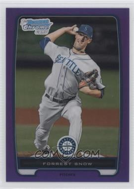 2012 Bowman Chrome Prospects Retail Purple Refractor #BCP207 - Forrest Snow /199