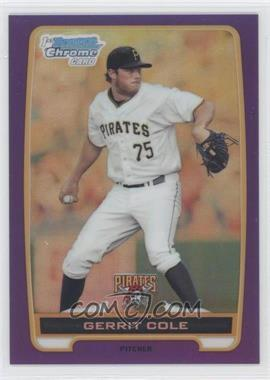 2012 Bowman Chrome Prospects Retail Purple Refractor #BCP86 - Gerrit Cole /199
