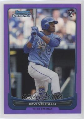 2012 Bowman Chrome Purple Refractor #115 - Irving Falu /199