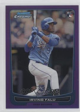 2012 Bowman Chrome Purple Refractor #115 - Irving Falu /199