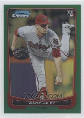 2012 Bowman Chrome Rack Pack Green Refractor #159 - Wade Miley