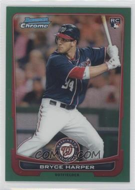 2012 Bowman Chrome Rack Pack Green Refractor #214 - Bryce Harper