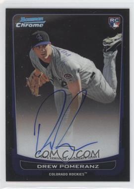 2012 Bowman Chrome Rookie Certified Autographs [Autographed] #212 - Drew Pomeranz