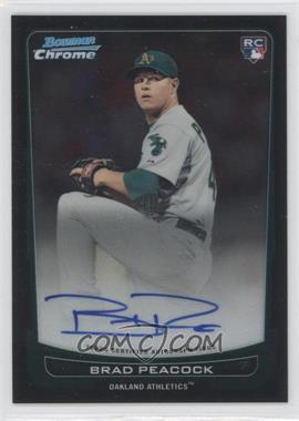 2012 Bowman Chrome Rookie Certified Autographs [Autographed] #216 - Brad Peacock