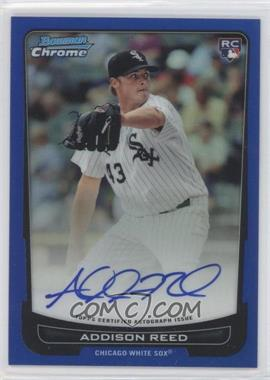2012 Bowman Chrome Rookie Certified Autographs Blue Refractor [Autographed] #220 - Addison Reed /250