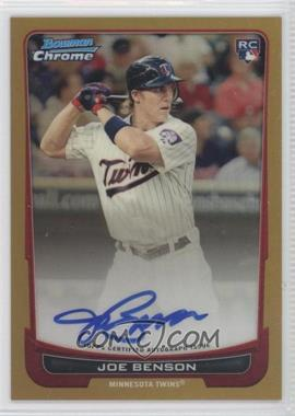 2012 Bowman Chrome Rookie Certified Autographs Gold Refractor [Autographed] #215 - Joe Benson /50