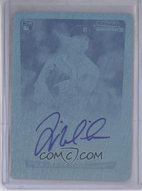 2012 Bowman Chrome Rookie Certified Autographs Printing Plate Cyan [Autographed] #N/A - Will Middlebrooks /1