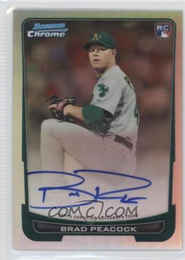 2012 Bowman Chrome Rookie Certified Autographs Refractor [Autographed] #216 - Brad Peacock /500