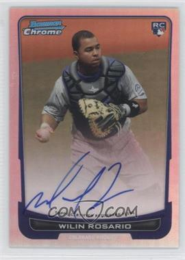 2012 Bowman Chrome Rookie Certified Autographs Refractor [Autographed] #218 - Wilin Rosario /500