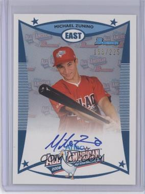 2012 Bowman Draft Picks & Prospects - Aflac All-American Certified Autographs - [Autographed] #AFLAC-MZ - Michael Zunino /225