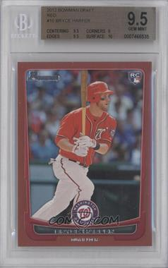 2012 Bowman Draft Picks & Prospects - [Base] - Red #10 - Bryce Harper /1 [BGS 9.5]