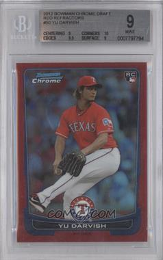 2012 Bowman Draft Picks & Prospects - Chrome - Red Refractor #50 - Yu Darvish /5 [BGS 9]
